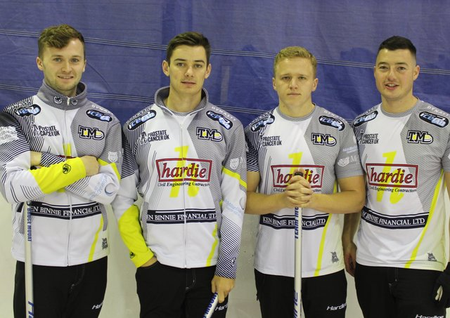Team Mouat - left to right, Bruce Mouat, Grant Hardie, Bobby Lammie and Hammy McMillan Jnr - won't get the chance to represent Scotland at the Worlds in Glasgow