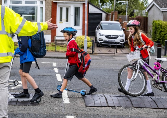 As schools prepare to return this week, Transport Scotland is asking commuters to consider active travel options and plan their journeys. Photo: Peter Devlin
