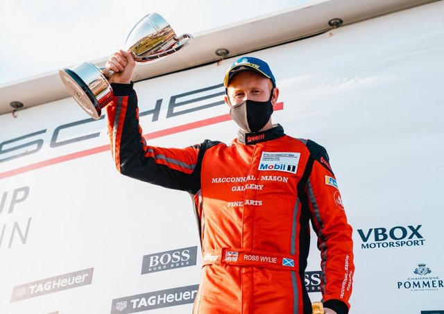 Ross Wylie took his first Porsche Carrera Cup GB win at Thruxton