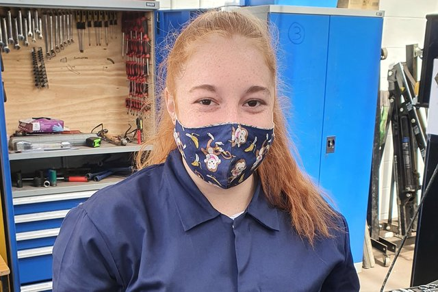 Megan Raine is one of three Kirkcudbright Academy pupils who completed the course