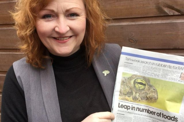Emma Harper is delighted bya reported rise in the number of Natterjack Toads