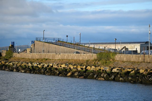 The harbour where the ferries used to sail from has been left fenced off and abandoned for the last nine years
