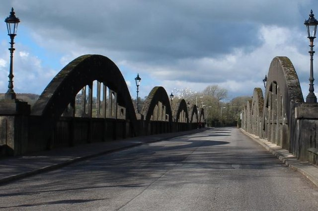 Carrying out aninspection of KirkcudbrightBridge will land the council with a huge bill.   © Copyright Billy McCrorie and licensed for reuse under this Creative Commons Licence