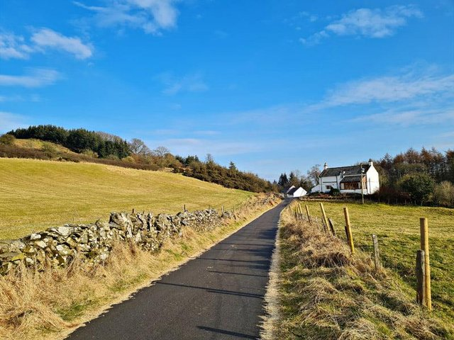 Driving down the private road toCleuchbrae islike entering your own oasis