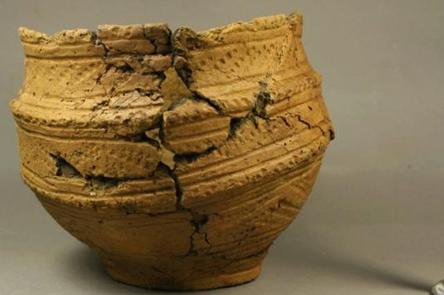 A ceramic vessel recovered at East Challoch Farm