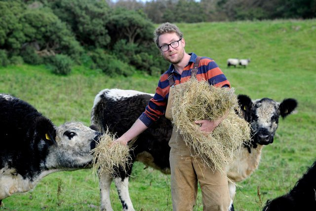 Dalbeattie farmer Patrick Laurie is among the eight finalists. Pic: Colin Hattersley