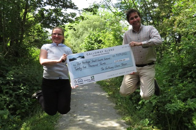 Anna Harvey and McNabbb Laurie from Galloway Glens are excited to have more cash to give out