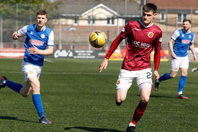 New Stranraer signing Tommy Muir in action for Stenhousemuir