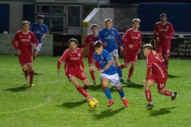 Matty Yates in action for Stranraer against Brechin City