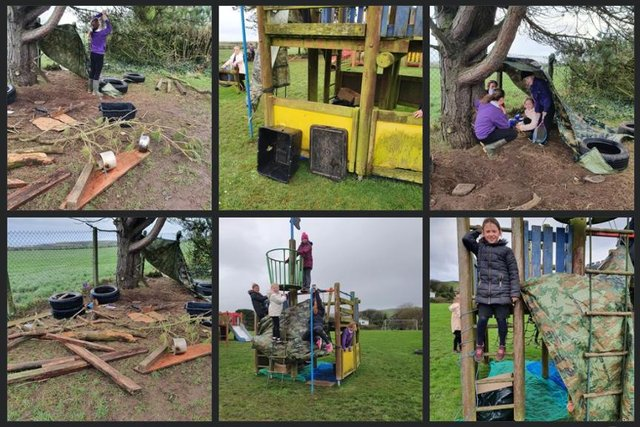 Den building at Drummore Primary