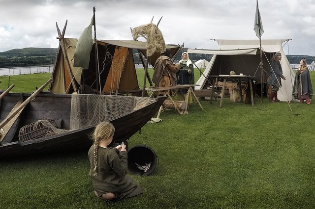 The Crossmichael encampment will allow visitors to be immersed in viking life