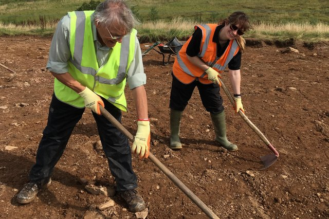 Can You Dig It volunteers enjoying their work at Threave in 2019.