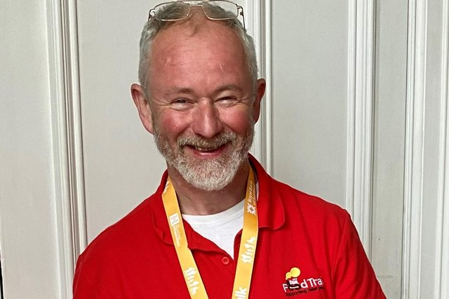 Ian Dick from the Newton Stewart branch of Food Train completed the Kiltwalk