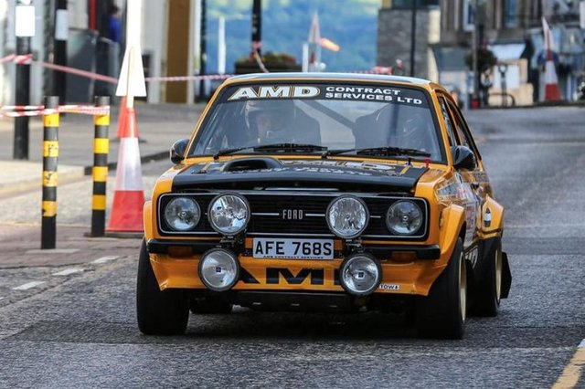 Stephen Thompson in action at the recent Argyll Stages Rally (pic: Eddie Kelly)