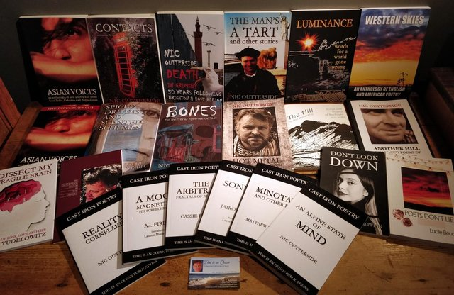 A selection of the books written and published by Nic Outterside
