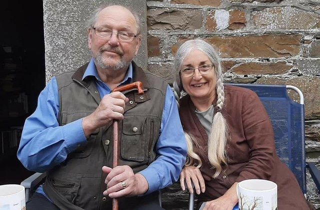 Roger Hampshire with his wife Lyn